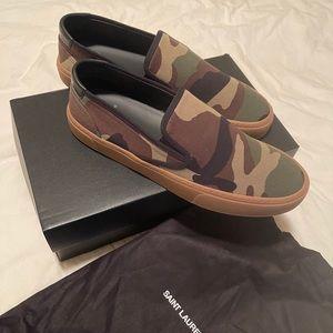 Men's Saint Laurent Camo Slip On Sneakers